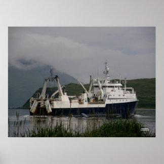Arctic Fjord, Catcher/Processor in Unalaska Bay Poster
