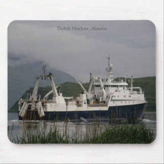 Arctic Fjord, Factory Trawler in Dutch Harbor, AK Mouse Pad