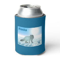 Arctic Fox - Alaska Postage Can Cooler