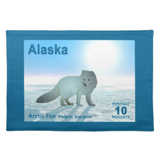 Arctic Fox - Alaska Postage Cloth Place Mat