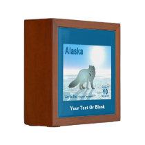 Arctic Fox - Alaska Postage Pencil Holder