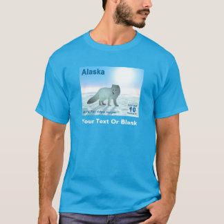 Arctic Fox - Alaska Postage T-Shirt