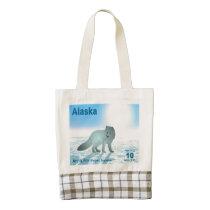 Arctic Fox - Alaska Postage Zazzle HEART Tote Bag