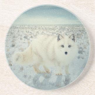 Arctic Fox Beverage Coasters