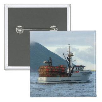 Arctic Fox, Crab Boat in Dutch Harbor, Alaska Pins