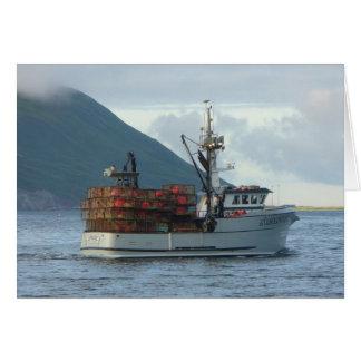 Arctic Fox, Crab Boat in Dutch Harbor, Alaska Card