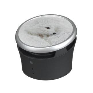 Arctic Fox curled up in winter Bluetooth Speaker