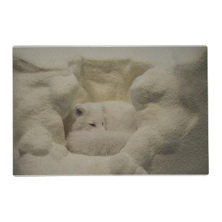 Arctic Fox Den Laminated Place Mat