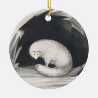 Arctic Fox, from 'Narrative of a Second Voyage in Ceramic Ornament