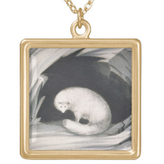 Arctic Fox, from 'Narrative of a Second Voyage in Gold Plated Necklace