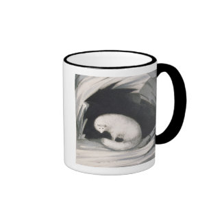 Arctic Fox, from 'Narrative of a Second Voyage in Ringer Coffee Mug