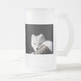 Arctic Fox Frosted Glass Beer Mug