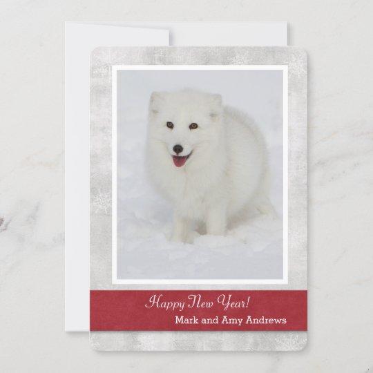 Arctic Fox Happy New Year\'s Card | Zazzle.com