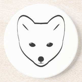 Arctic Fox Head Coasters