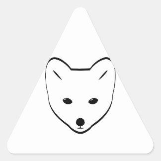 Arctic Fox Head Triangle Sticker