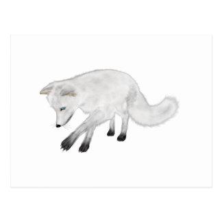 Arctic Fox Hunting Postcard