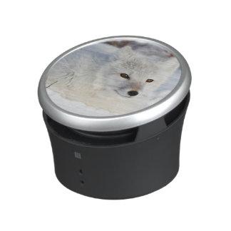 Arctic Fox in winter Bluetooth Speaker