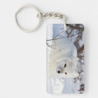 Arctic Fox in winter Keychain
