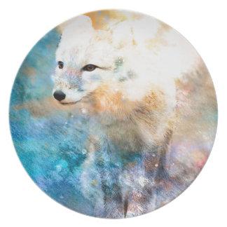 ARCTIC FOX.jpg Dinner Plate