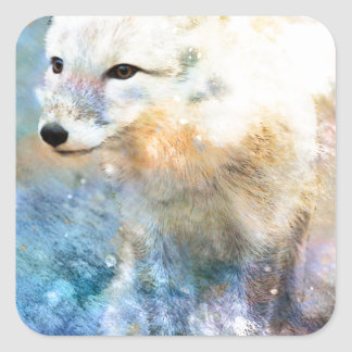 ARCTIC FOX.jpg Square Sticker