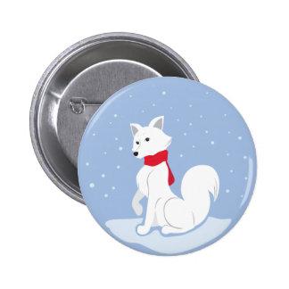 Arctic Fox Pinback Button