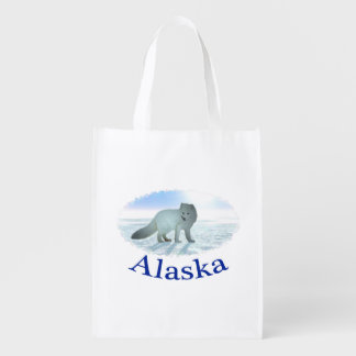 Arctic Fox Reusable Grocery Bags