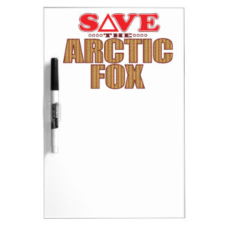 Arctic Fox Save Dry Erase Board