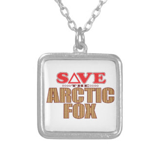 Arctic Fox Save Silver Plated Necklace