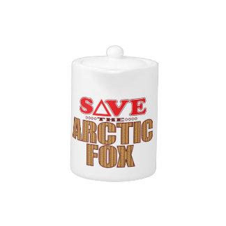 Arctic Fox Save Teapot