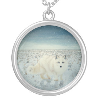 Arctic Fox Silver Plated Necklace