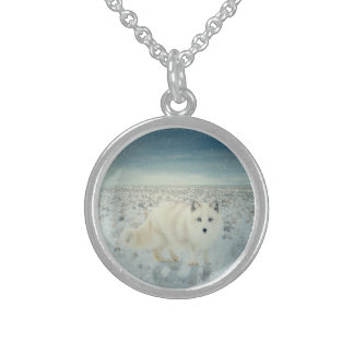 Arctic Fox Sterling Silver Necklace