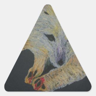 arctic fox triangle sticker