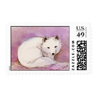 Arctic Fox Watercolor Stamps