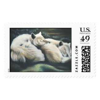 """Arctic foxes"" Stamp"