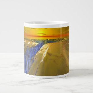 Arctic Fractal Glacier Large Coffee Mug