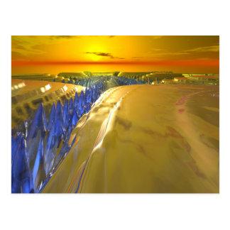 Arctic Fractal Glacier Postcard