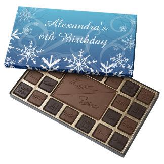 Arctic Frozen Snowdrift Personalized 45 Piece Assorted Chocolate Box
