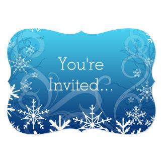 Arctic Frozen Snowdrift Personalized 5x7 Paper Invitation Card
