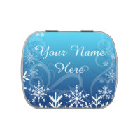 Arctic Frozen Snowdrift Personalized Candy Tin
