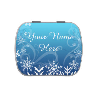 Arctic Frozen Snowdrift Personalized Jelly Belly Tin