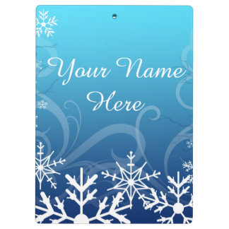 Arctic Frozen Snowdrift Personalized Clipboard