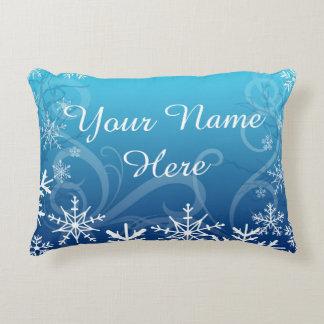 Arctic Frozen Snowdrift Personalized Decorative Pillow