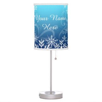 Arctic Frozen Snowdrift Personalized Desk Lamps