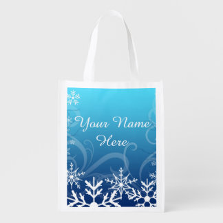 Arctic Frozen Snowdrift Personalized Grocery Bag