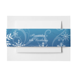 Arctic Frozen Snowdrift Personalized Invitation Belly Band