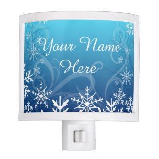 Arctic Frozen Snowdrift Personalized Nite Light