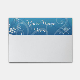 Arctic Frozen Snowdrift Personalized Post-it® Notes