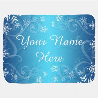 Arctic Frozen Snowdrift Personalized Receiving Blanket