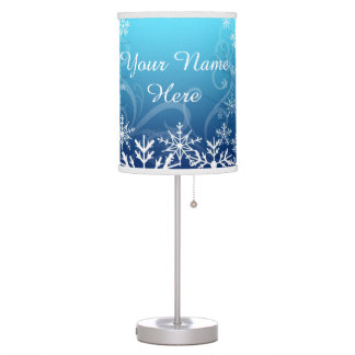 Arctic Frozen Snowdrift Personalized Table Lamp