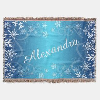 Arctic Frozen Snowdrift Personalized Throw Blanket